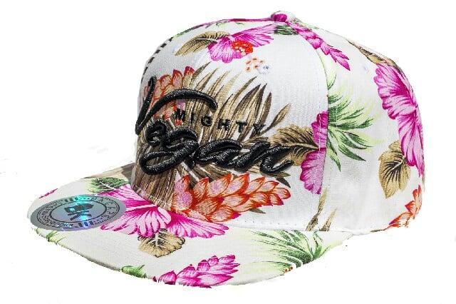 Image of MVA PINK HAWAIIAN FLORAL 3D SNAPBACK HAT