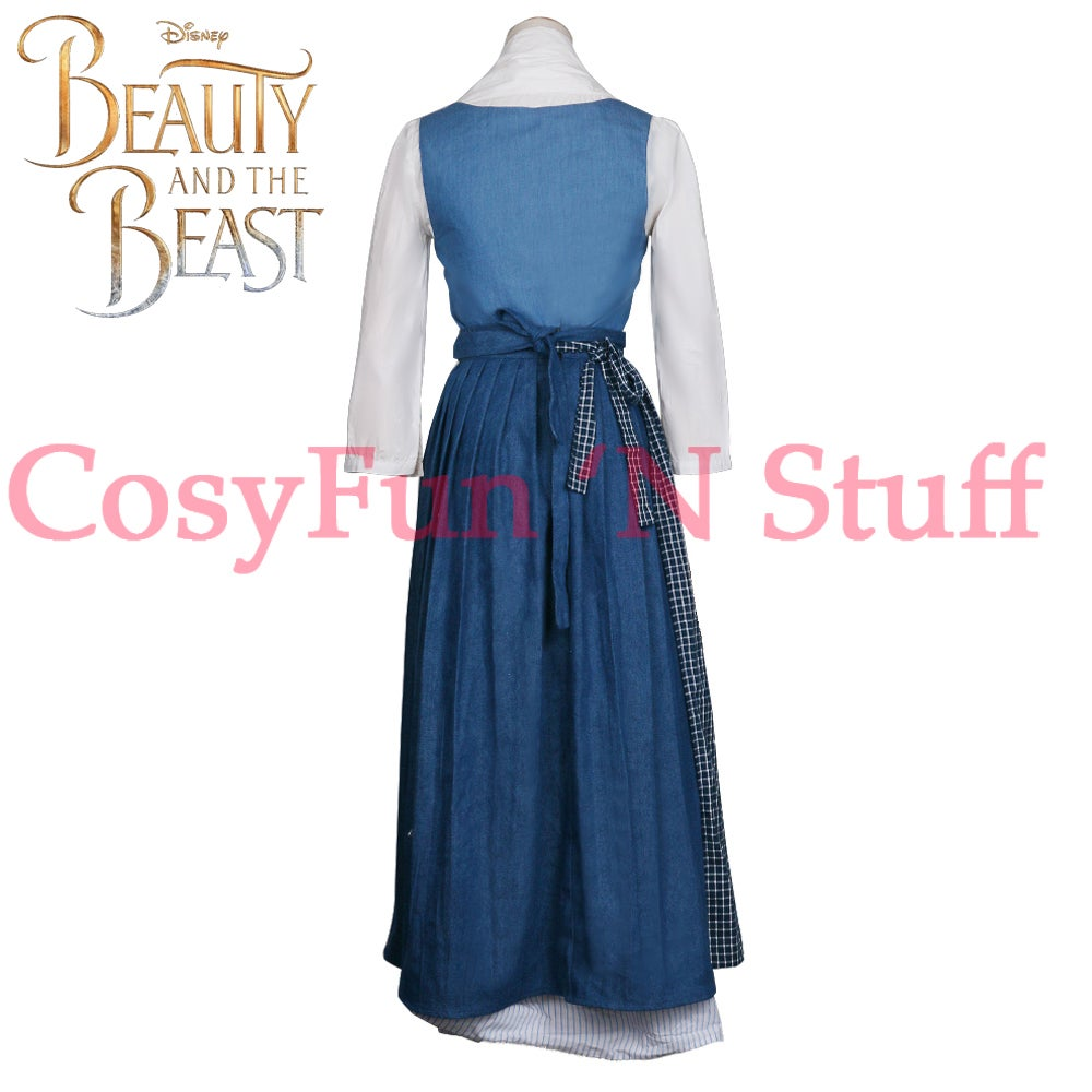 ... Image of 2017 Beauty and the Beast Movie Belle Cosplay Emma Watson Costume Peasant Maid Dress  sc 1 st  CosyFun u0027N Stuff - Big Cartel : belle maid costume  - Germanpascual.Com