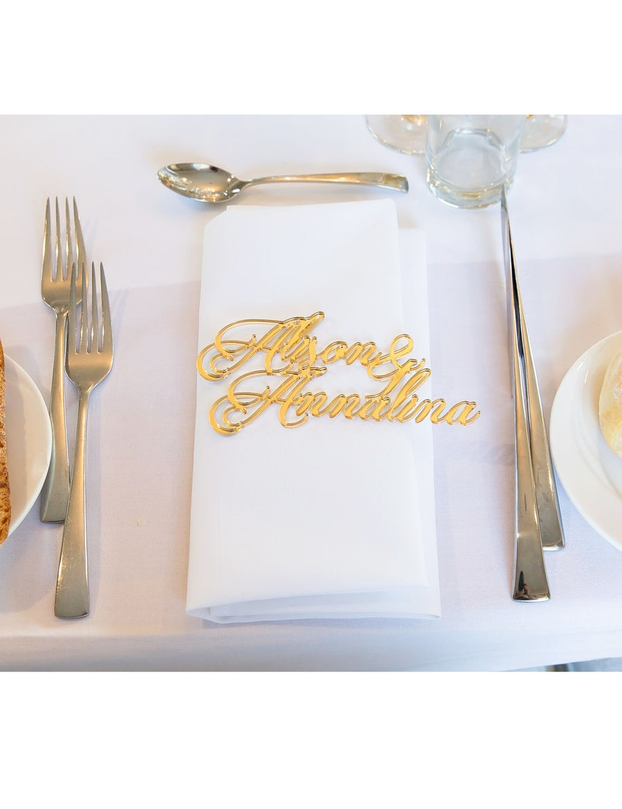 Image of <50 Acrylic/Wooden Laser Cut Name Place Cards