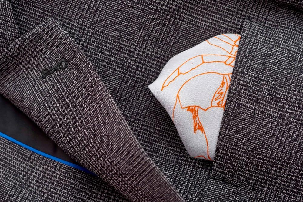 Image of 100% Irish Linen gentleman's Handkerchief