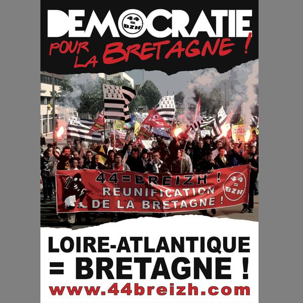 Image of Autocollants 44=BREIZH : démocratie pour la Bretagne !