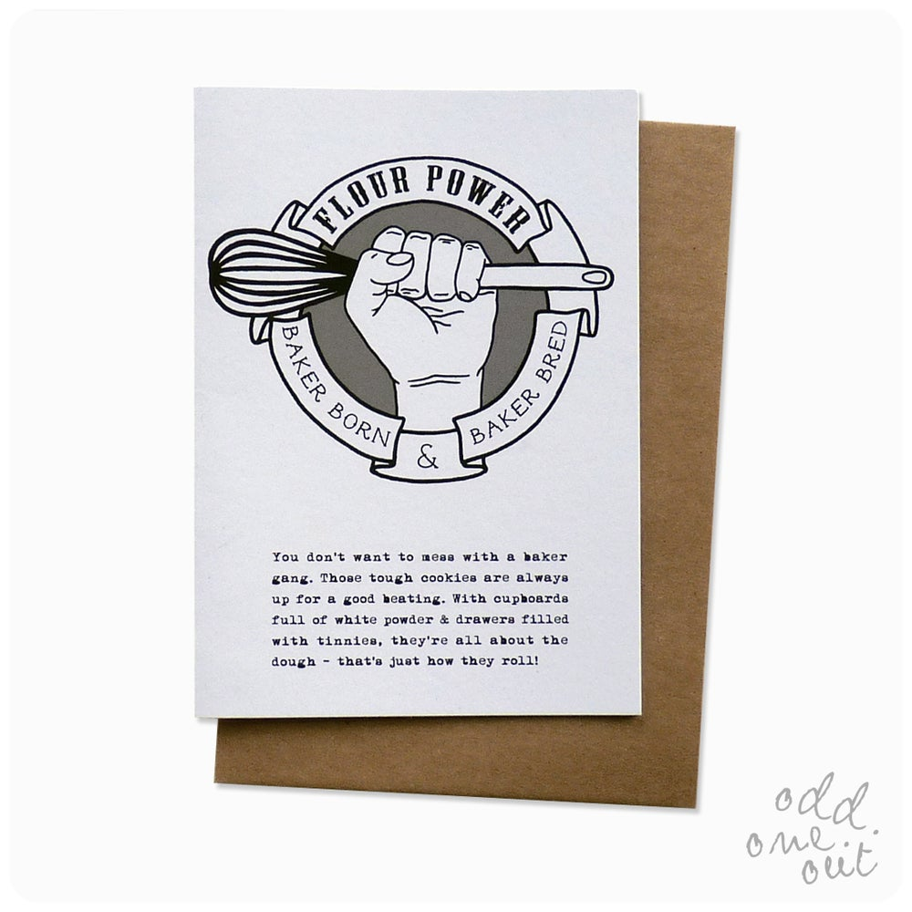 Image of Flour Power - Greeting Card