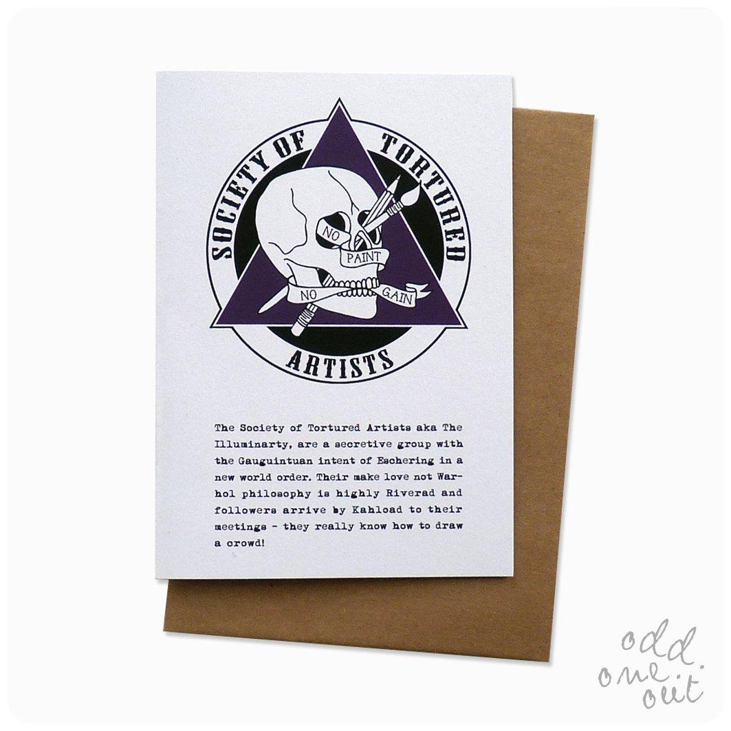 Image of Tortured Artist - Greeting Card