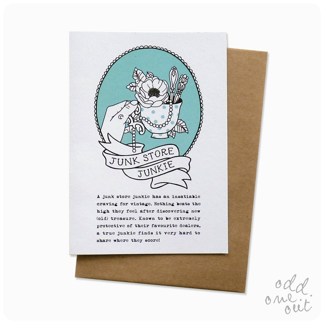 Image of Junk Store Junkie - Greeting Card