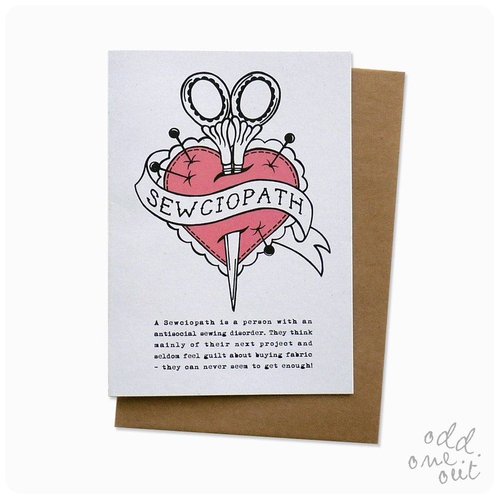 Image of Sewciopath - Greeting Card