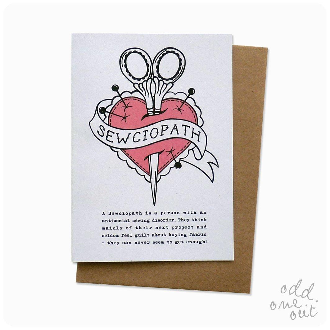 Image of Sewciopath - Greeting Card