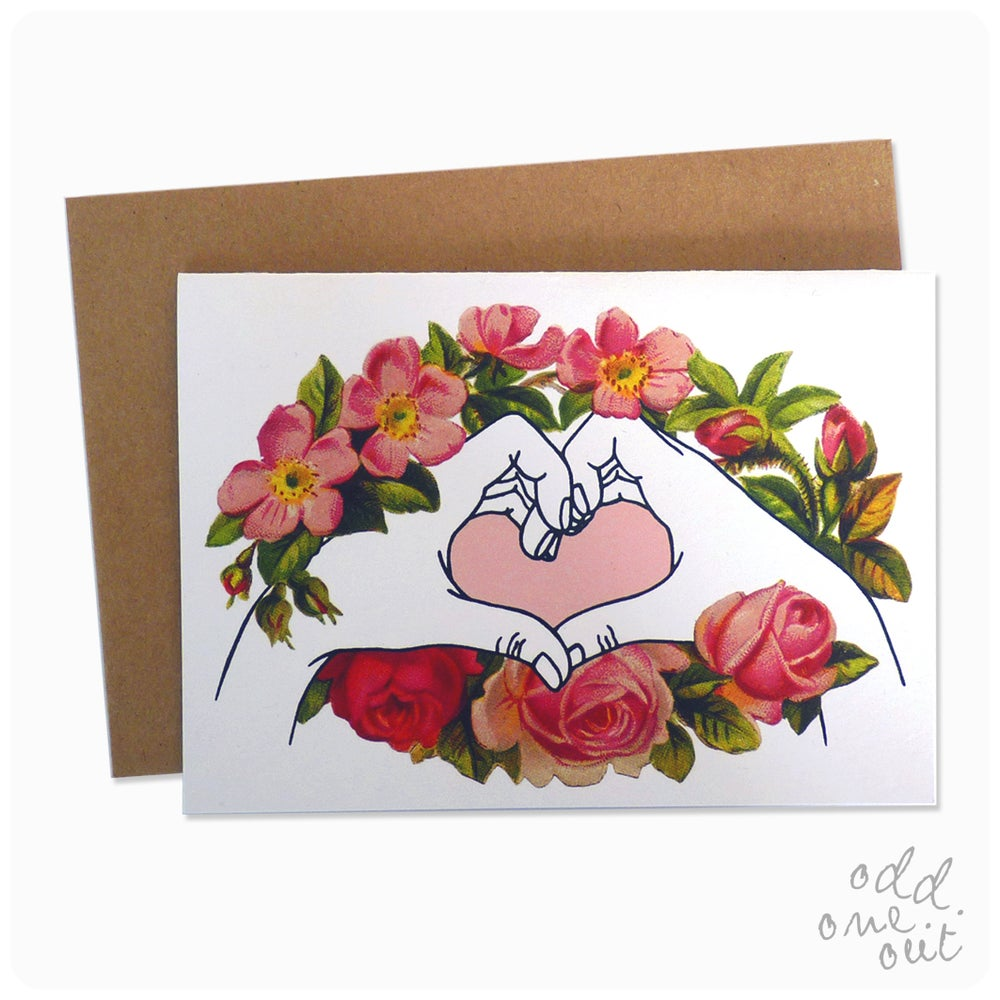 Image of I Love You hands - Greeting Card