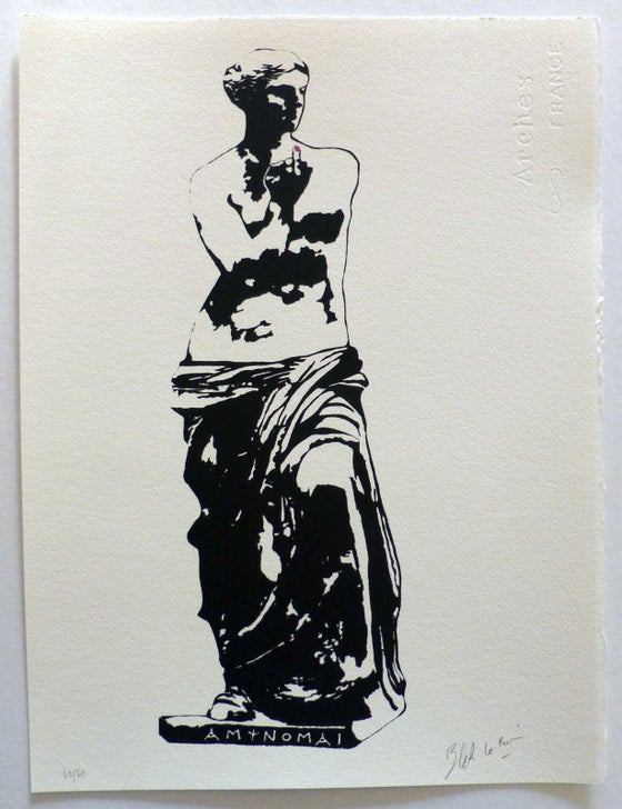Image of BLEK LE RAT - VENUS DE MILO - LTD EDITION 60 - 2 COLOUR SCREENPRINT