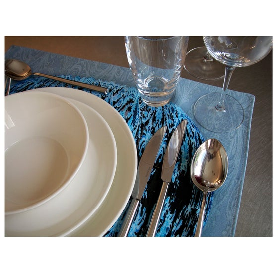 Image of Digitally printed cotton placemat CG Etienne, convex shape