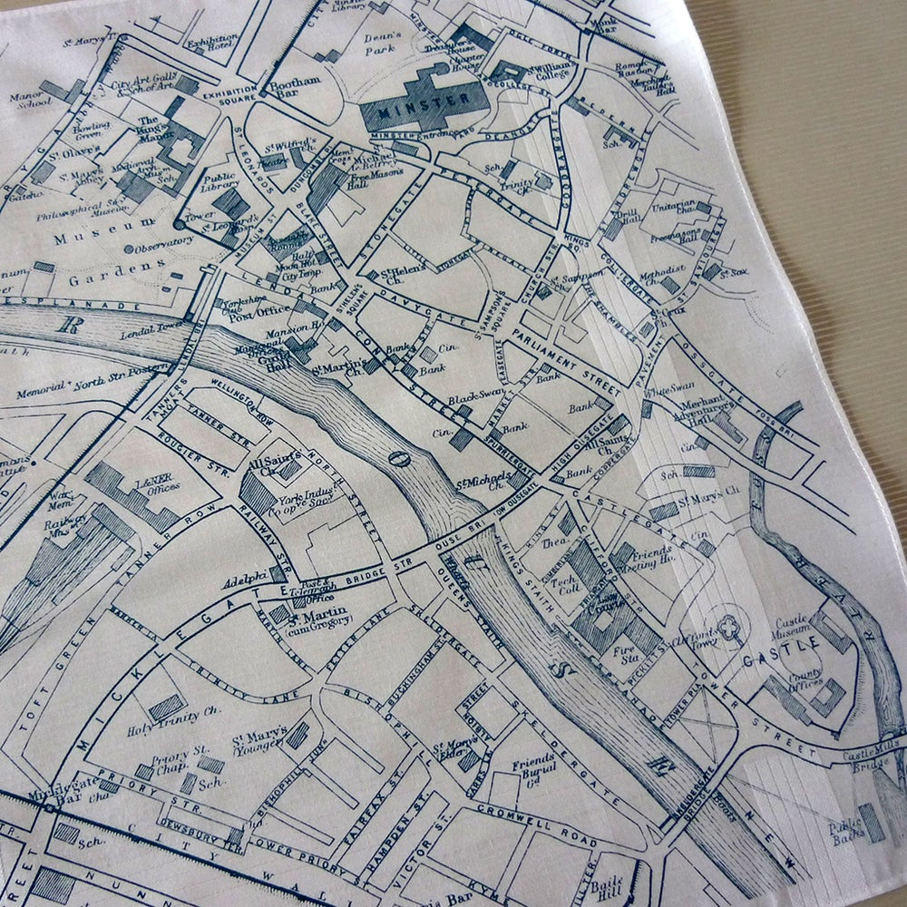 Image of York Map Hankie
