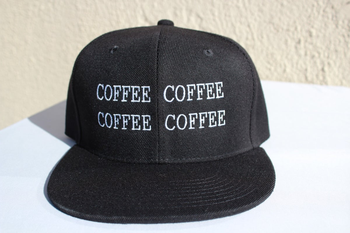 Image of Coffee x4 Snapback (Black or Red)