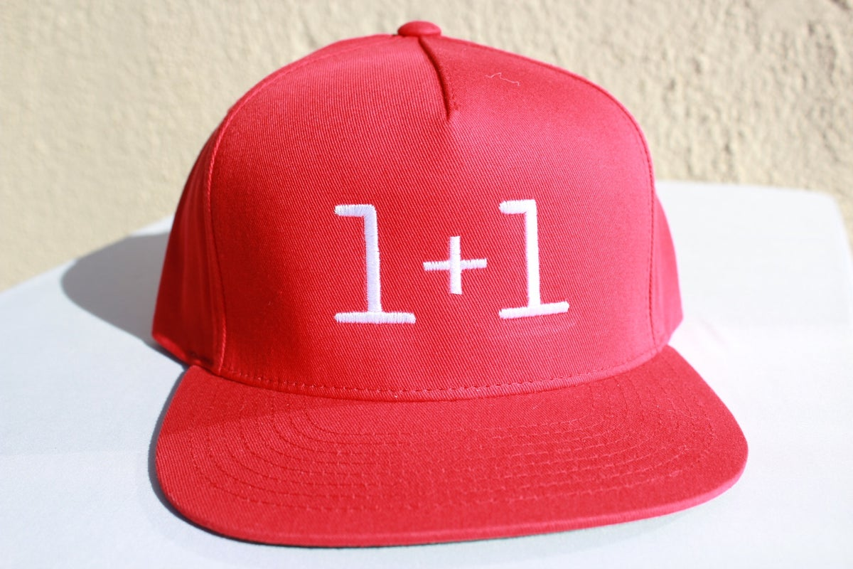 Image of 1+1 Snapback (Red or Black)
