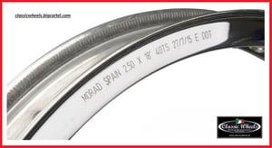 """Image of Harley Davidson Akront Morad shouldered alloy rim 18""""x2.50-40 hole for 36' & UP or Sportster hub."""