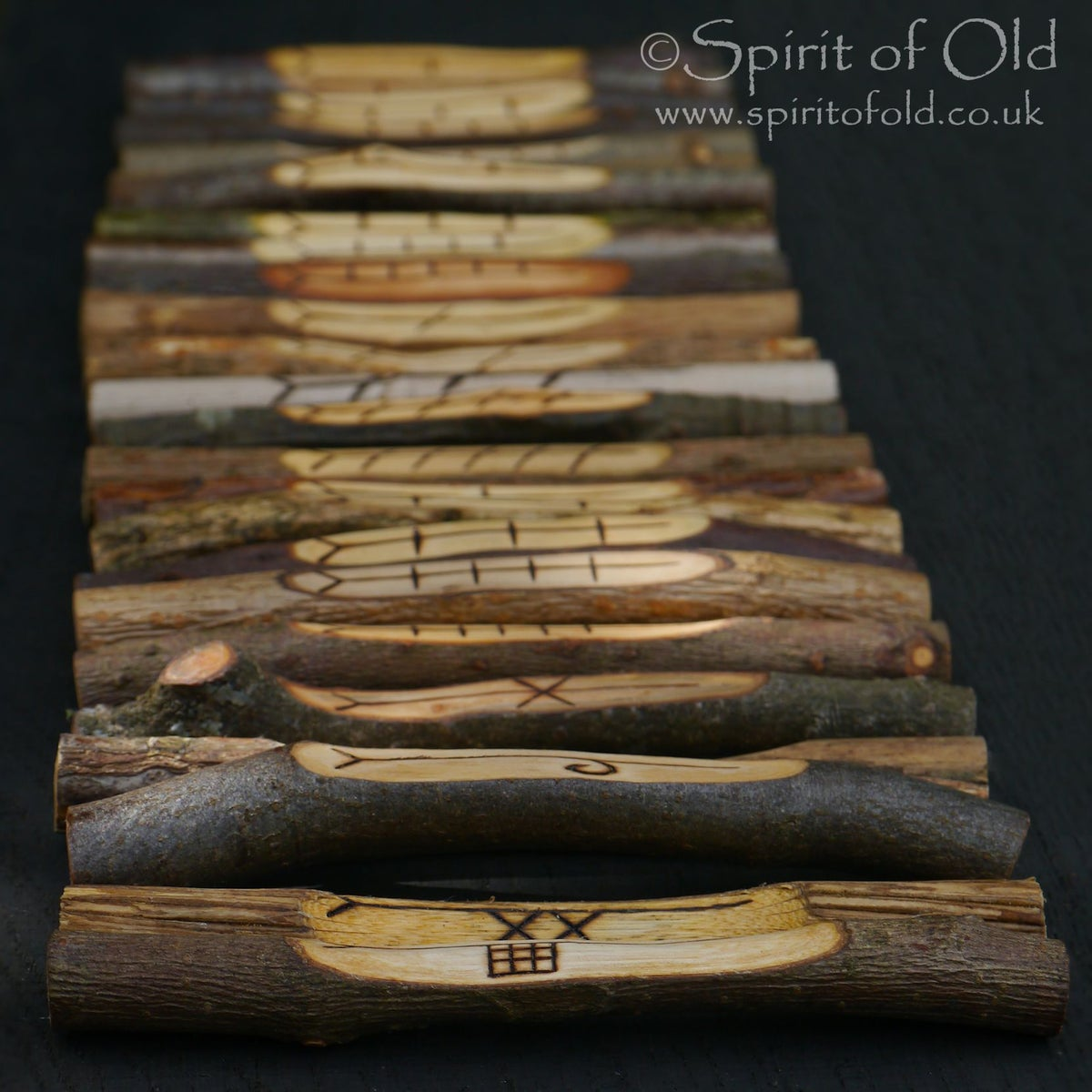 Image of Tree Speak ogham - 25 corresponding staves (D625)