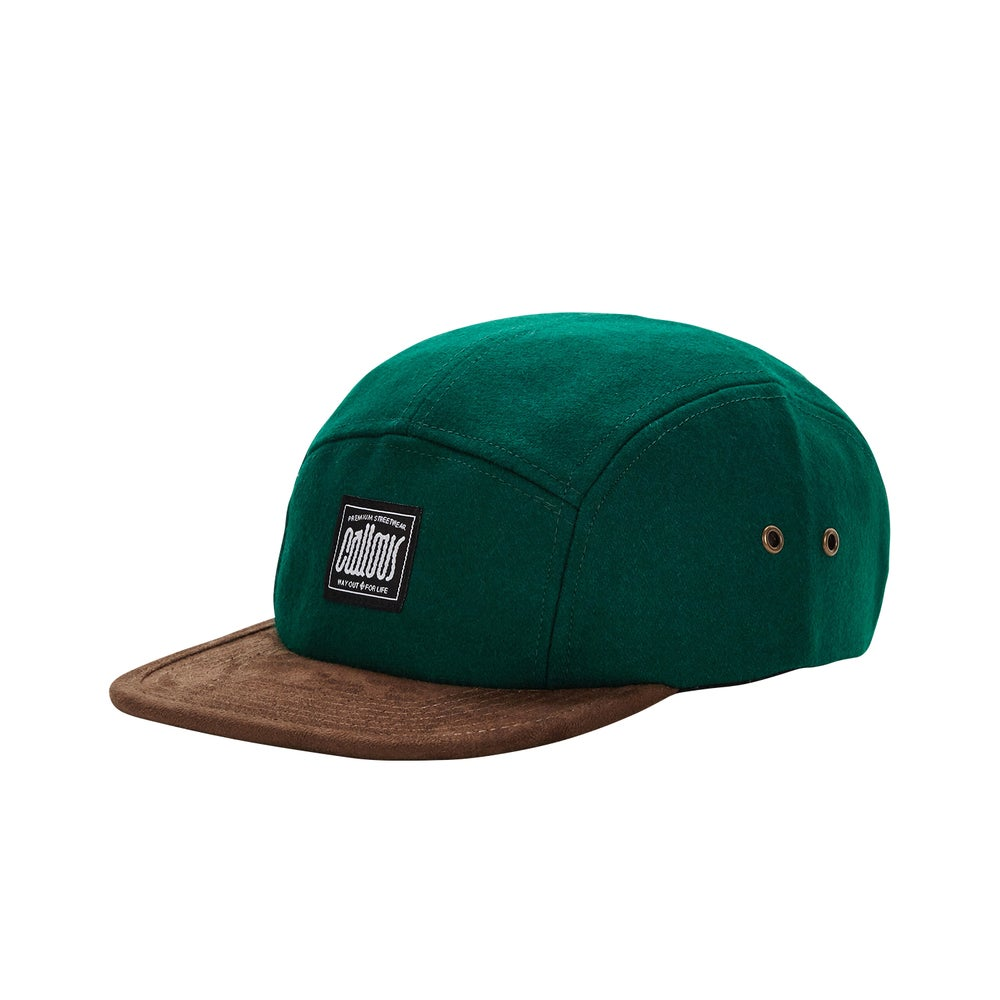 Image of Green Wool 5 Panel Cap