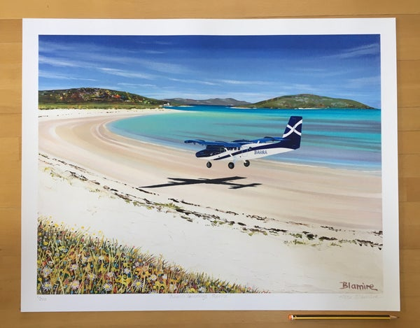 Image of Barra airport LARGE print