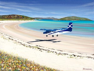 Image of Barra airport LARGE print