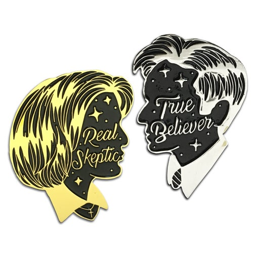 Image of Real Skeptic and True Believer - Lapel Pins