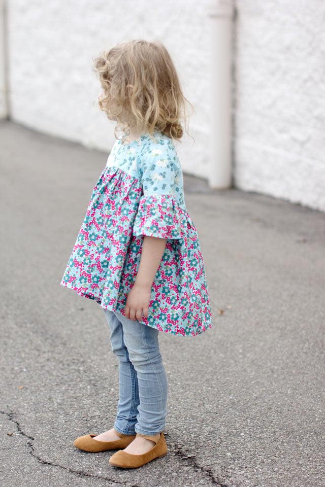 Image of the EMMA top/tunic/dress GIRL'S PDF pattern