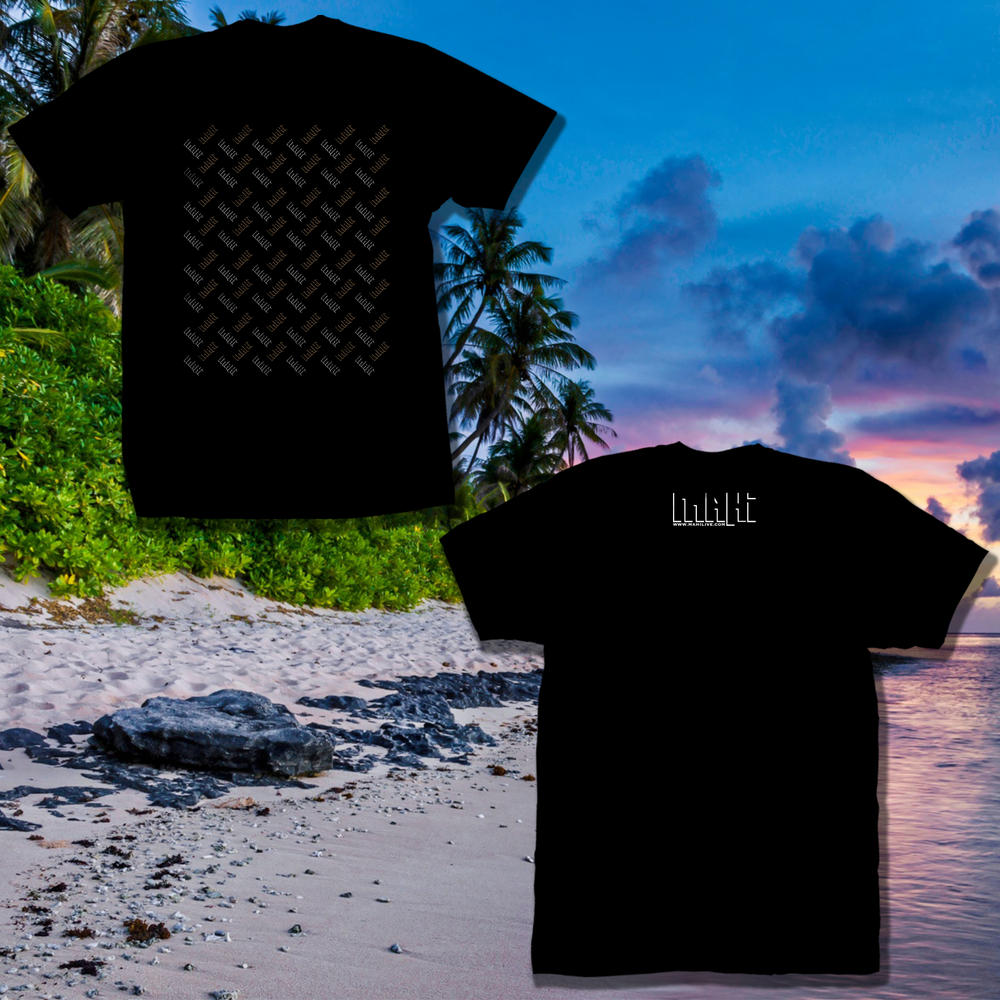 Image of Mahi Logo Motive Black T-Shirt