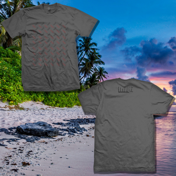 Image of Mahi Logo Motive Gray T-Shirt