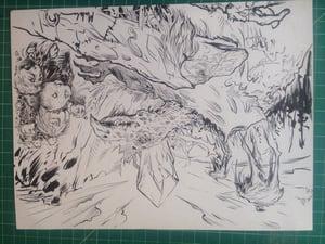Image of dark crystal original inked sketch