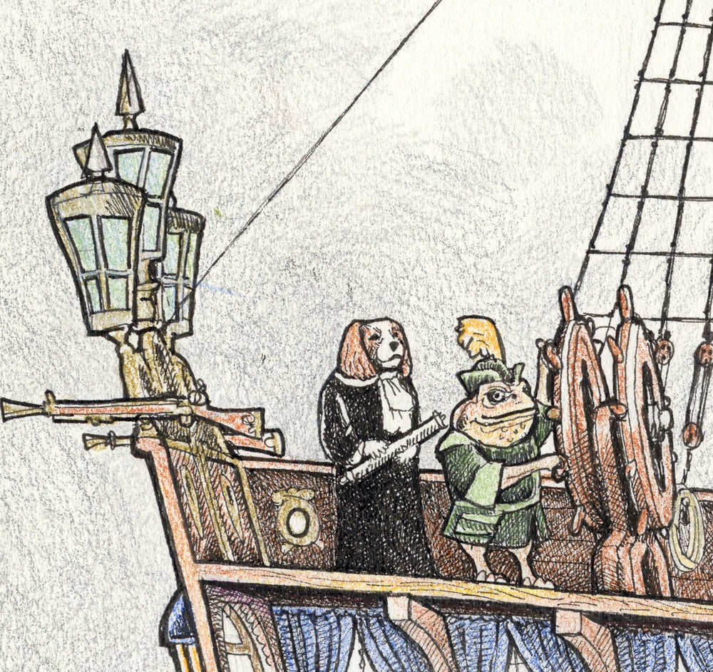 "Image of Sailing Ship ""Phronesis"" 17"" x 22"""
