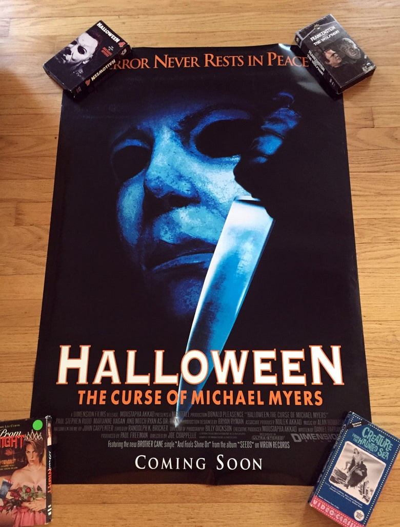 Image of 1995 HALLOWEEN 6: THE CURSE OF MICHAEL MYERS Original Double-Sided One Sheet Movie Poster