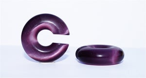 Image of Aubergine Stone Hoop Ear Weights, Ear Hangers