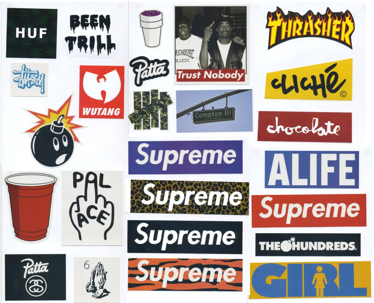 Supreme Sticker Pack 25 Stickers Free Shipping