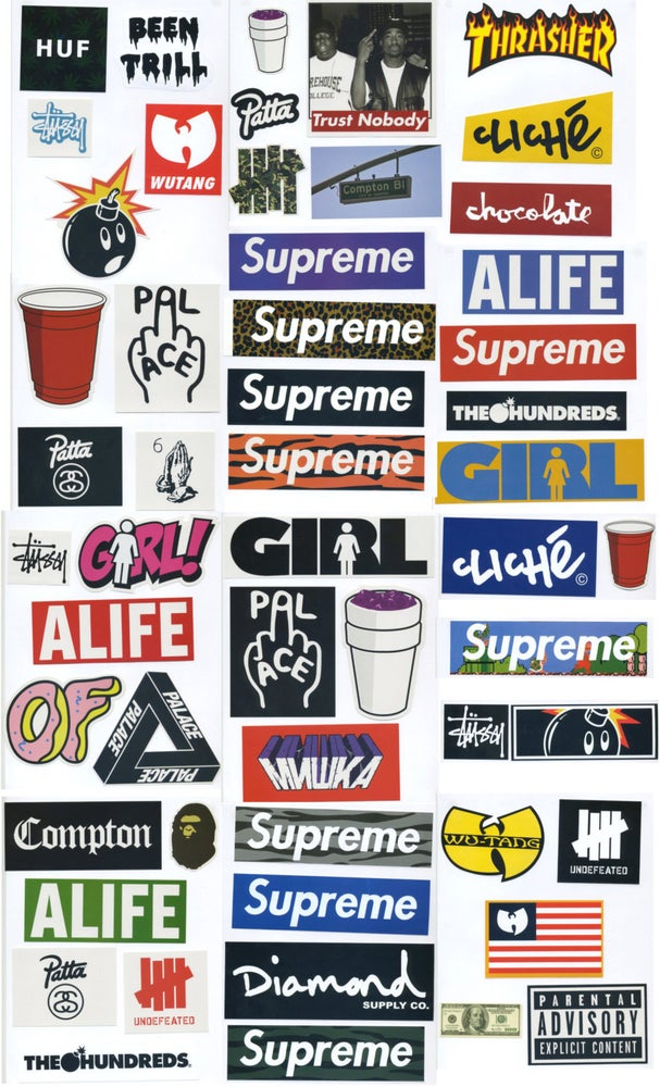 Supreme Sticker Pack 54 Stickers Free Shipping