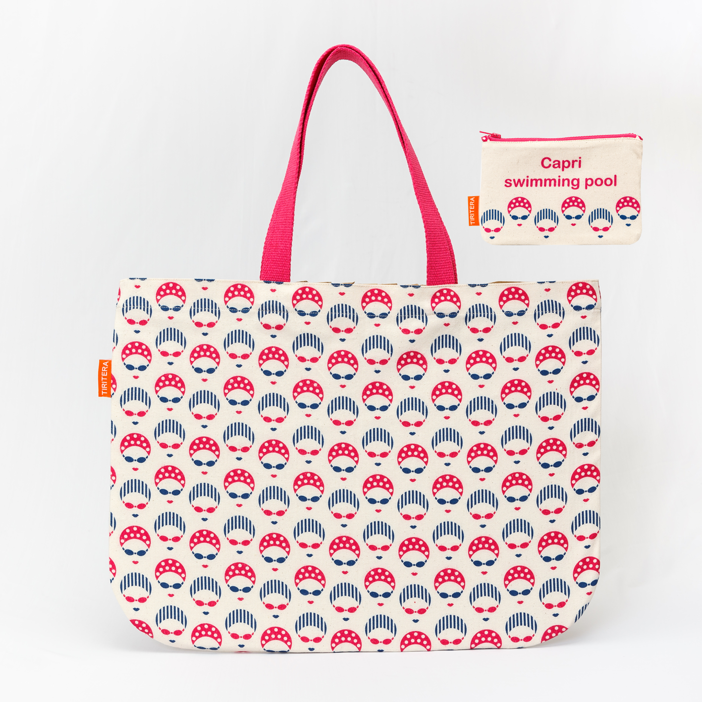 Image of Summer pattern bag & pouch sets