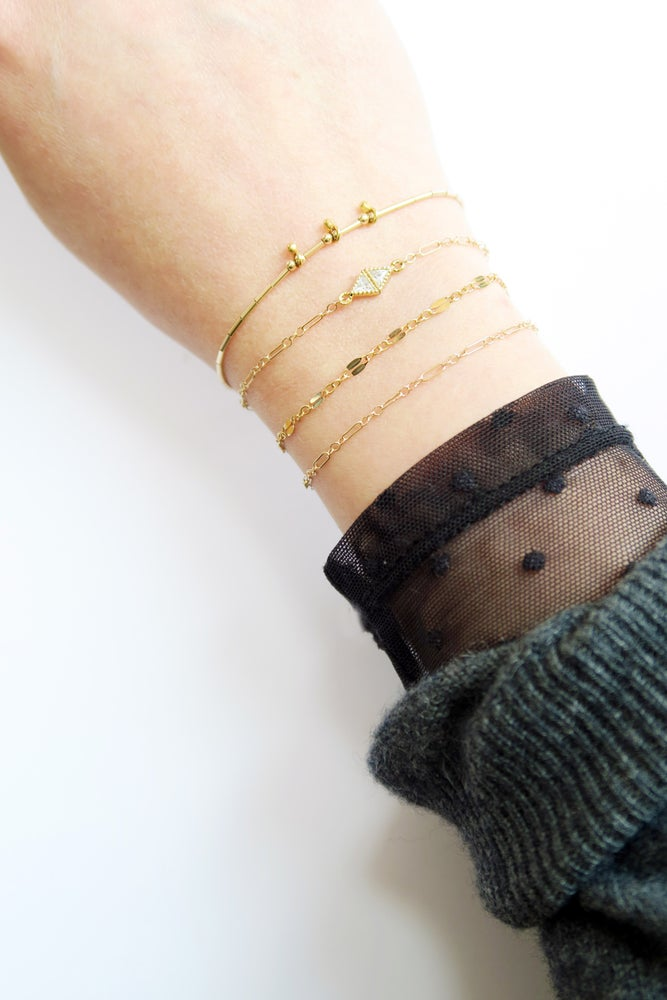 Image of Bracelets fins x 1 - Plaqué or // Thin x 1 gold filled bracelet