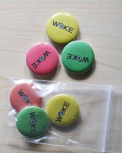 Image of Woke buttons