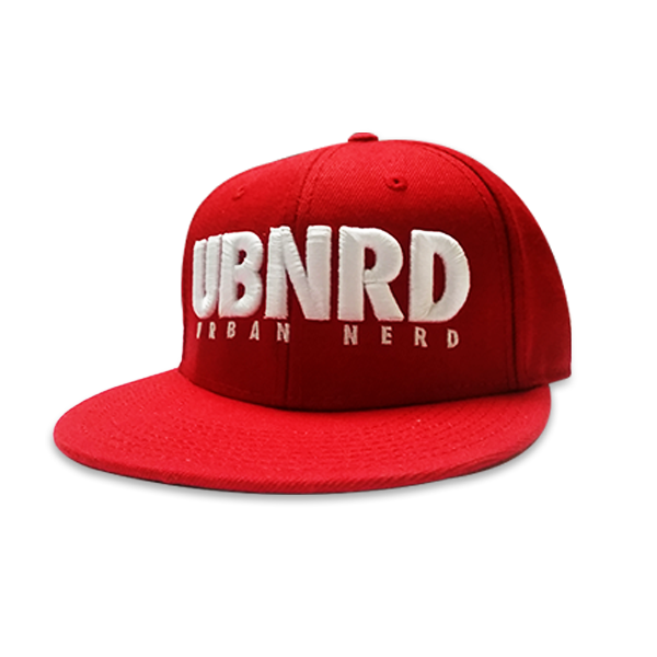 Image of RED - Urban Nerd ™ 6 - Panel snap back hat
