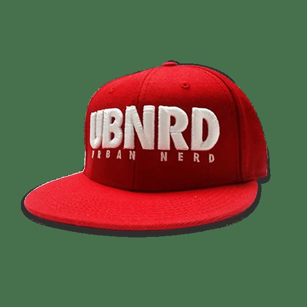 Image of RED - Urban Nerd ™ 6 - Panel snap back hat