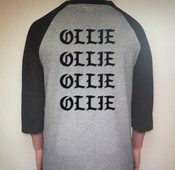 Image of MVH Ruined My Life 3/4 Raglan back view