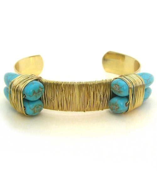 Image of Gold Wired Threaded Cuff