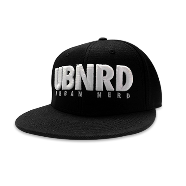 Image of BLACK - Urban Nerd ™ 6 - Panel snap back hat