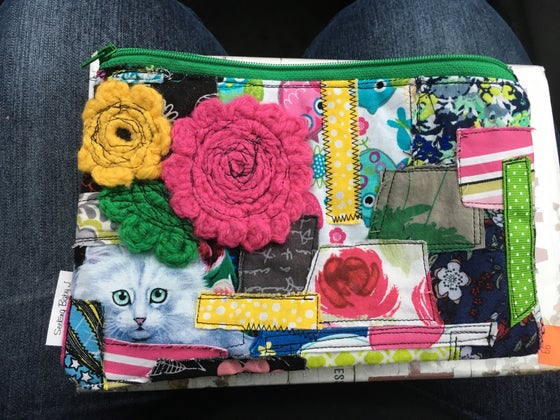 Image of Patchwork Zipper Bag