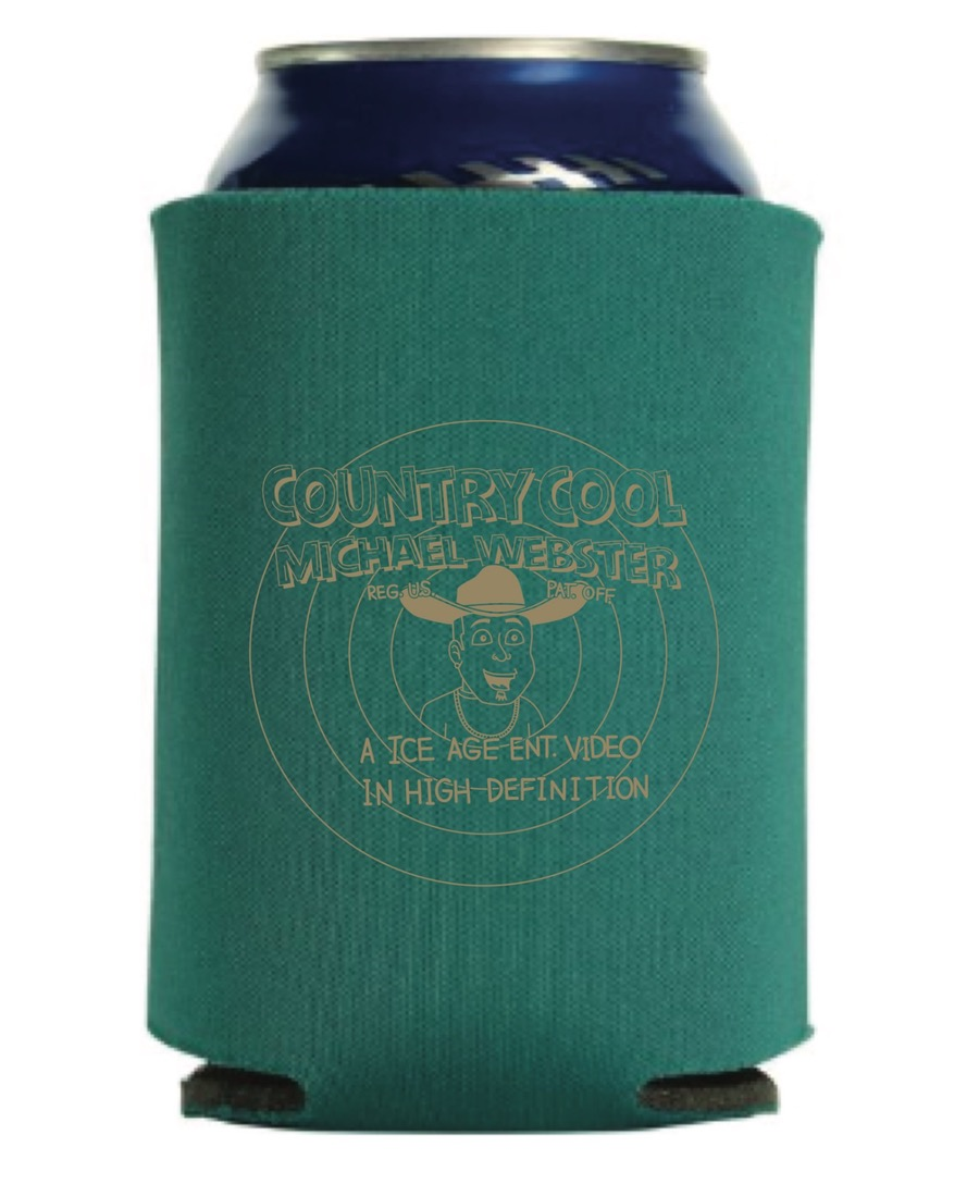 "Image of ""COUNTRY COOL"" CAN-COOLER GREEN/GOLD (Warner-Brothers STYLE)"