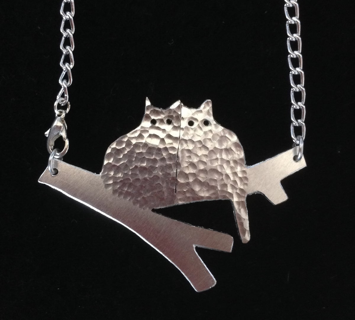 Image of Two Cats  In A Tree Necklace