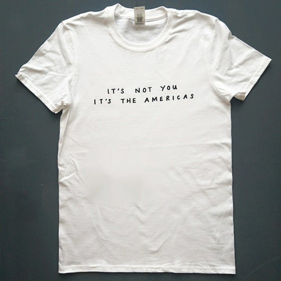 Image of The Americas text T-shirt