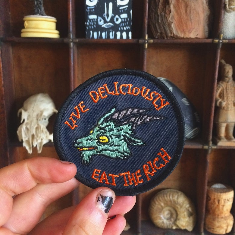 Image of LIVE DELICIOUSLY patch