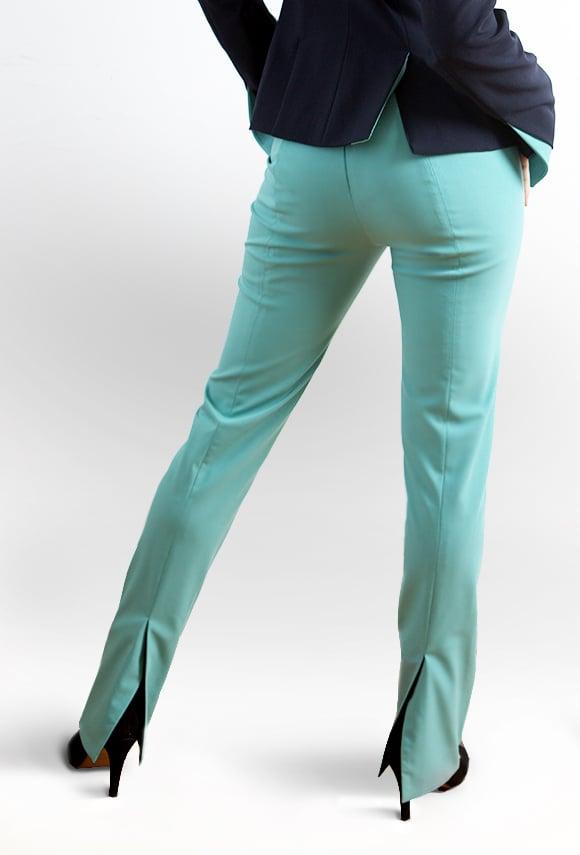 Image of Aqua blue PANTS