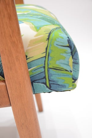 Image of Fauteuil SNIZENIK tissu feuilles