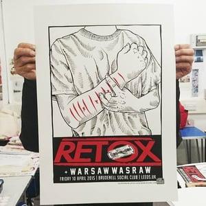 Gzy Ex Silesia - Retox - Leeds Gig Poster