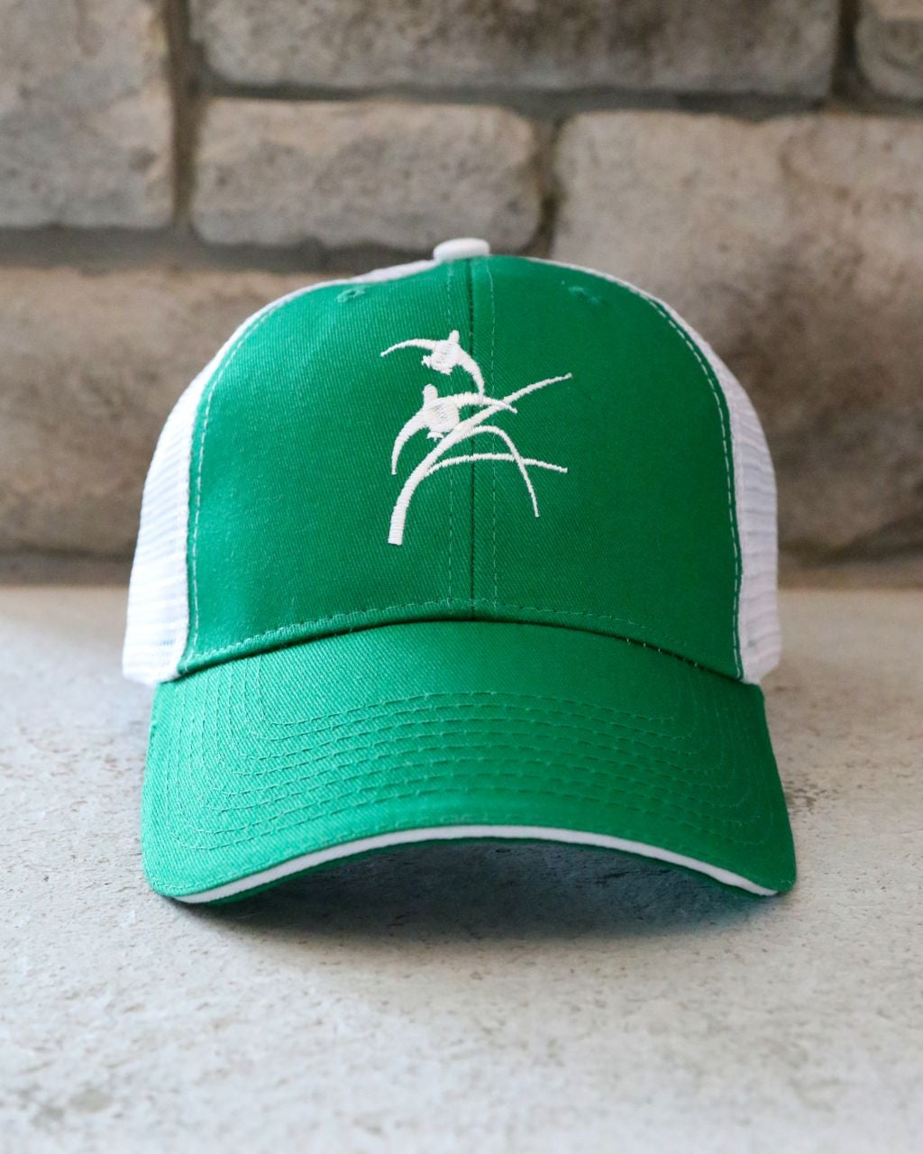 Image of Green   White Trucker Hat 4503e1cad29