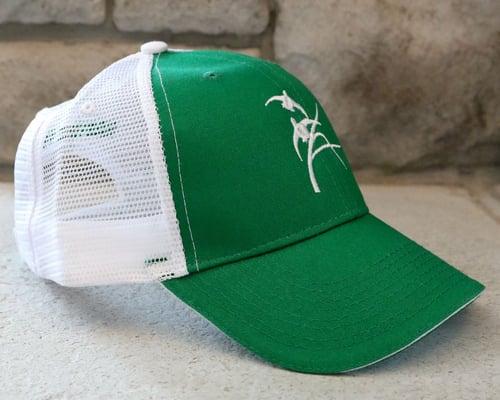 Image of Green & White Trucker Hat