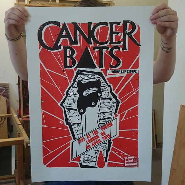 Gzy Ex Silesia - Cancer Bats - London Gig Poster